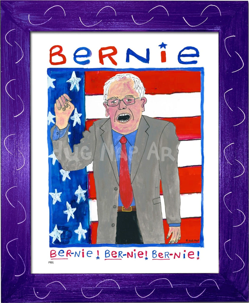 P931 - Bernie Chant Framed Print / Small (8.5 X 11) Purple Art