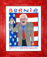 P931 - Bernie Chant Framed Print / Small (8.5 X 11) Red Art