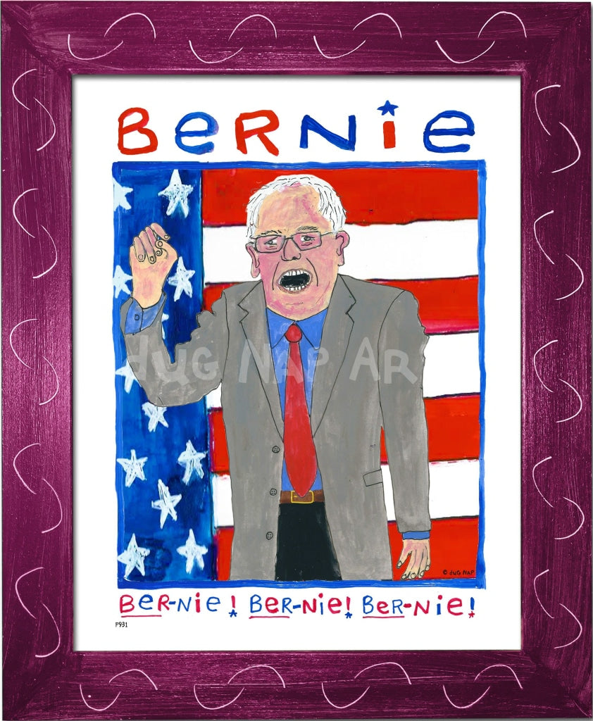 P931 - Bernie Chant Framed Print / Small (8.5 X 11) Violet Art