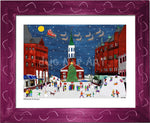 P951 - Church St. Holidays Framed Print / Small (8.5 X 11) Violet Art