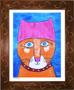 P954 - Pussy Power Framed Print / Small (8.5 X 11) Brown Art