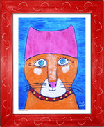 P954 - Pussy Power Framed Print / Small (8.5 X 11) Red Art
