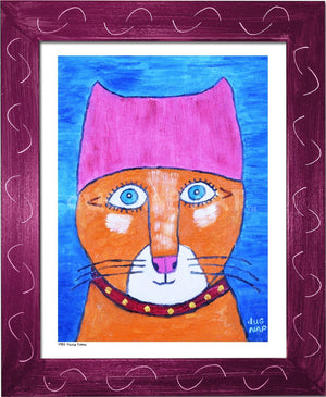 P954 - Pussy Power Framed Print / Small (8.5 X 11) Violet Art