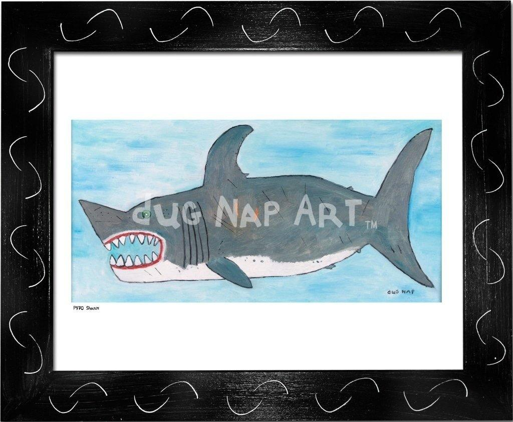 P970 - White Shark - dug Nap Art