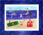 P998 - Life At The Beach Framed Print / Small (8.5 X 11) Blue Art