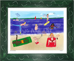 P998 - Life At The Beach Framed Print / Small (8.5 X 11) Green Art