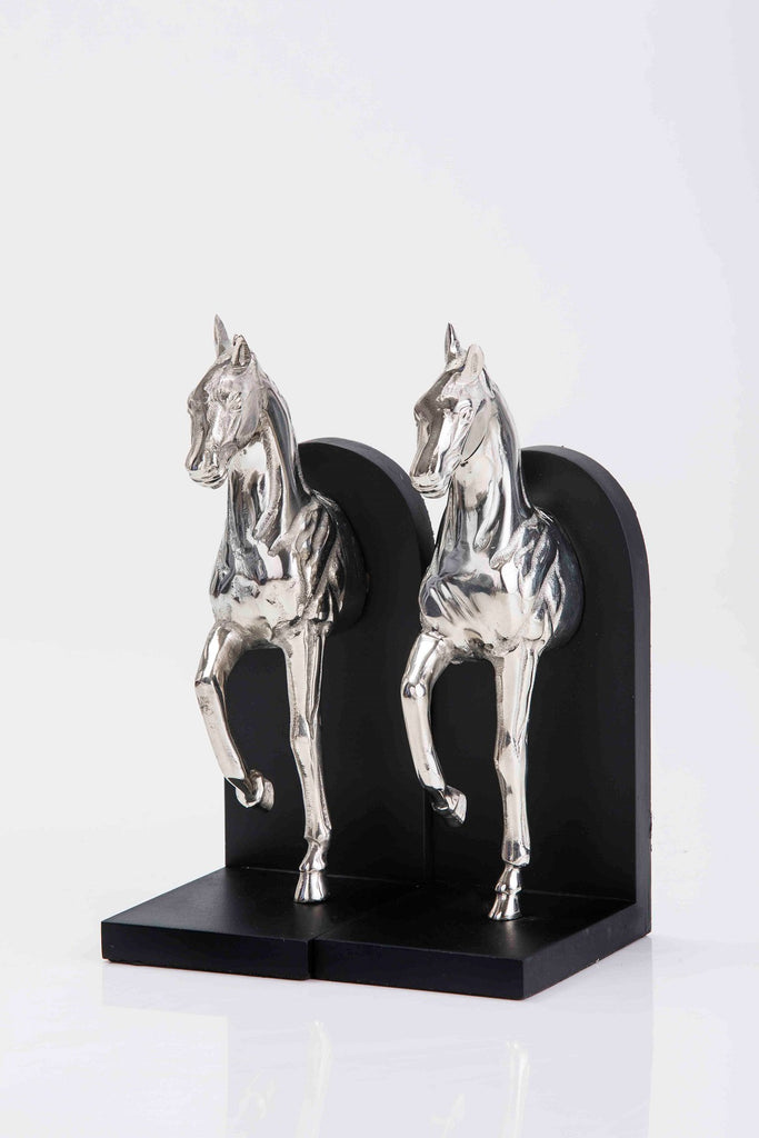 Buzzy Galloping horse bookend set of 2