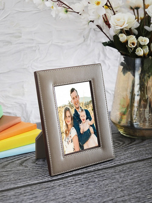 "Dove Beige & Brown 4""x6"" Photo Frame"