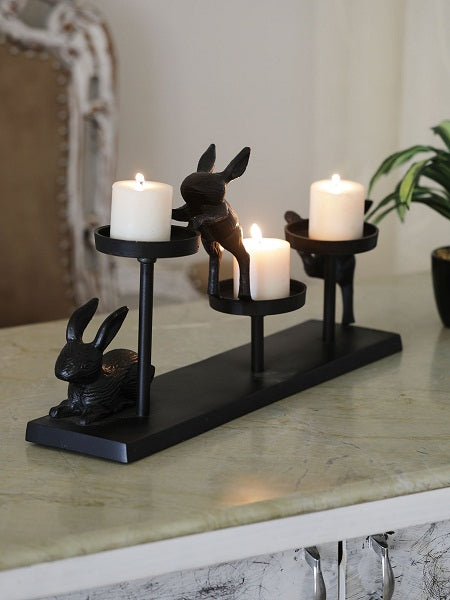 Autumn Hare Pillar Holder
