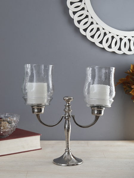 Alyssa Two Lite Hurricane Candlestand