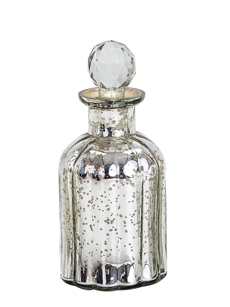 Trinity Silver glass decorative bottle Medium