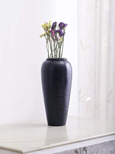 Torre Black Hammered Vase