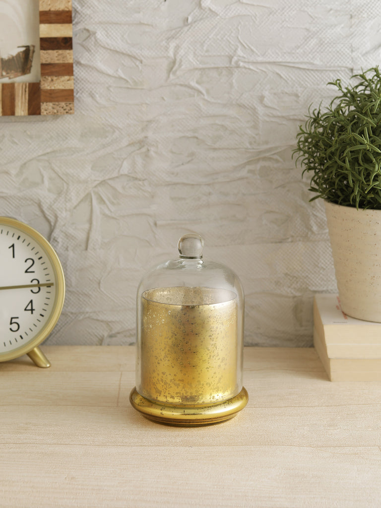 Metallic Gold Bell Jar Candle