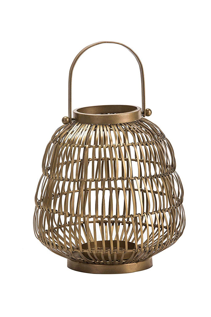 Decorative Hanging Gold Iron Georgina Lantern for Home Decoration