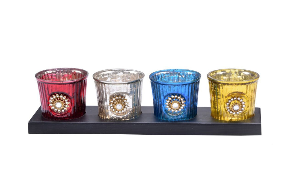 Jewelled Votive set of 4
