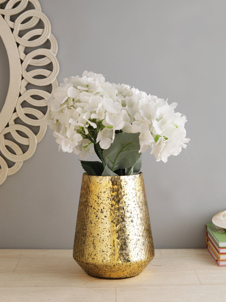 Crystal Gold Glass Vase