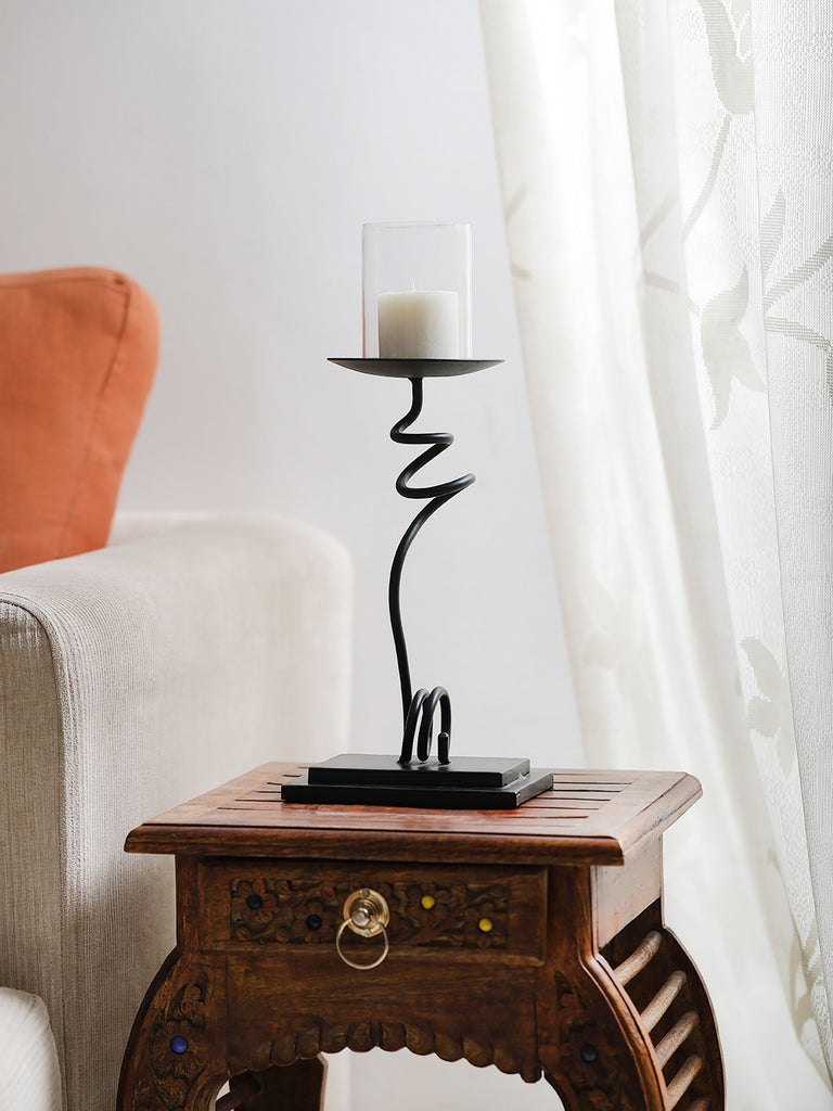 Willie Iron Pillar Candle holder