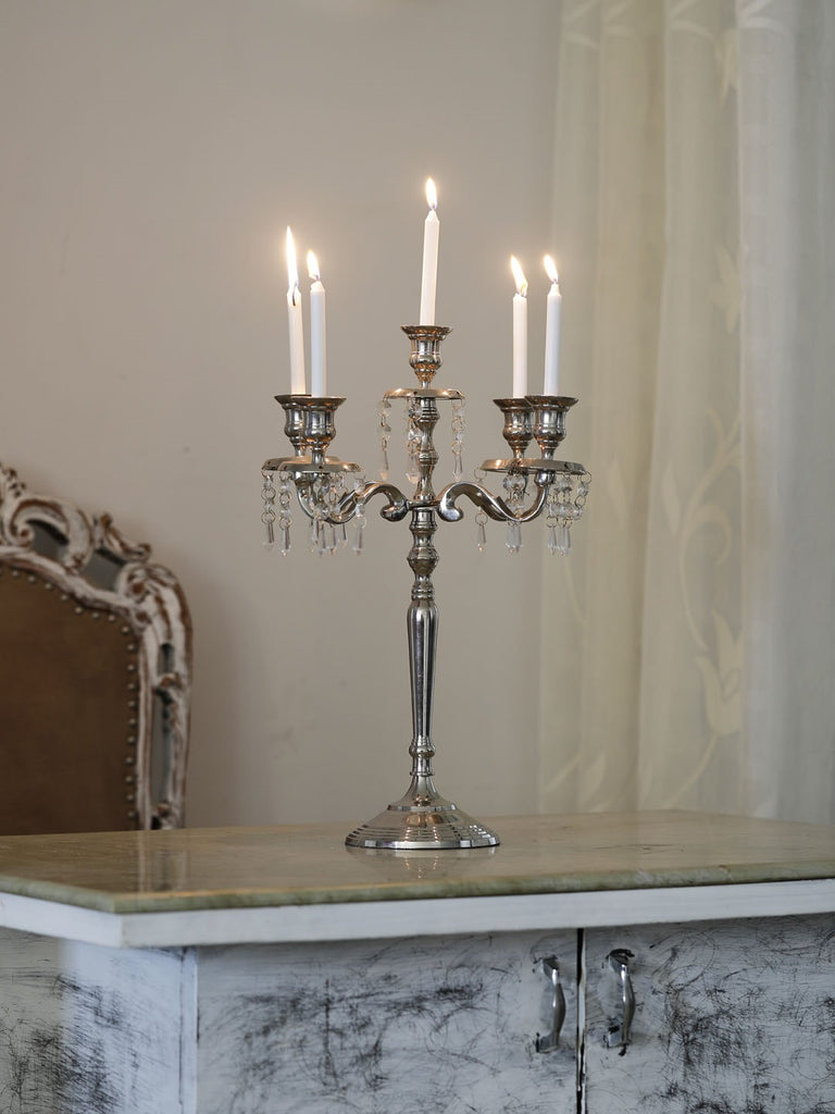 Russell Jewelled Taper Candle holder 5 Arm