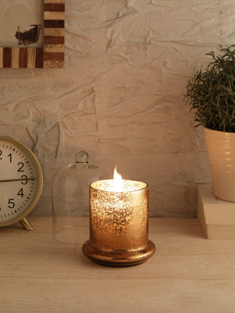 Metallic Copper Bell Jar Candle