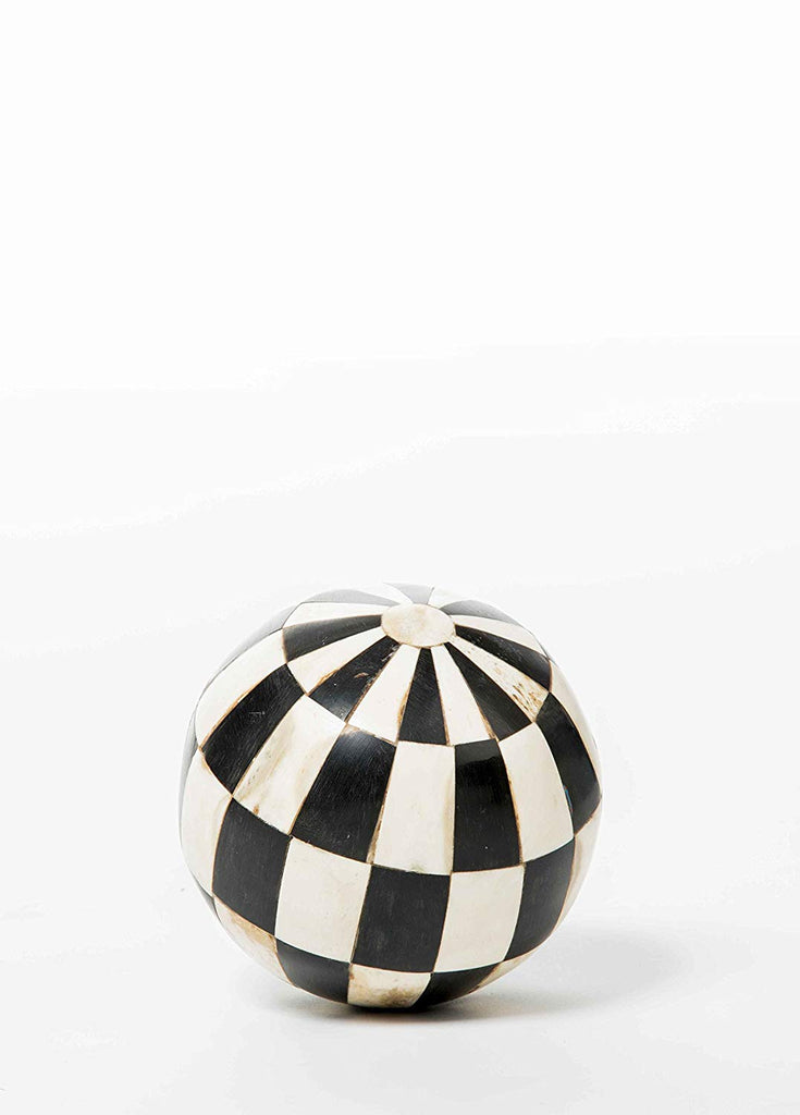 Ebony Ivory decorative sphere