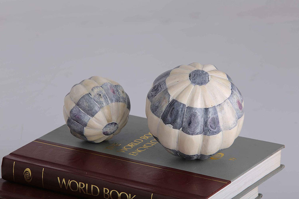 Indigo Ivory decorative sphere Big