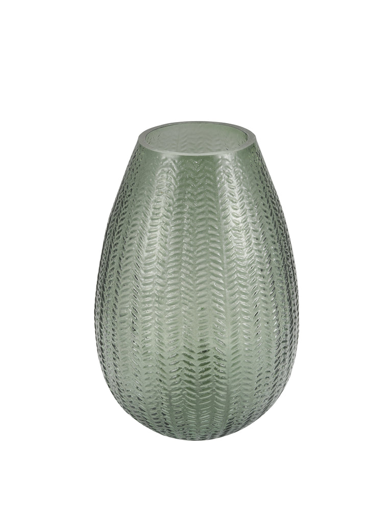 Emerald Glass Flower Vase