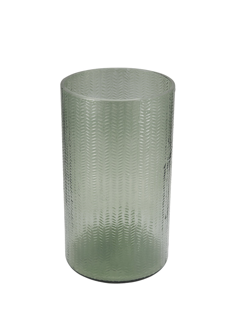 Emerald Green Glass Flower Vase