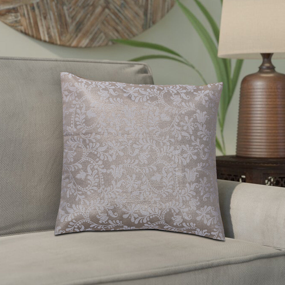 Varya Beige & Silver Cushion