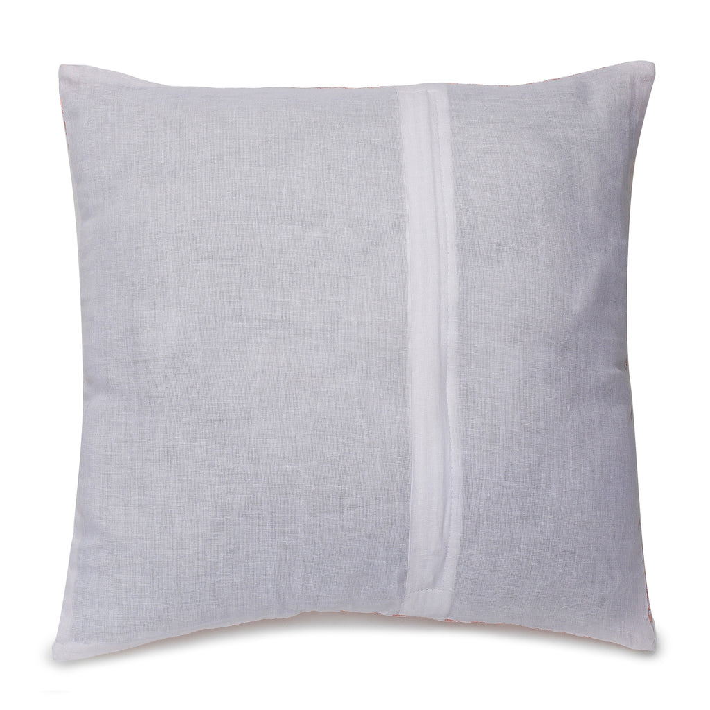 Riva Peach & Silver Cushion