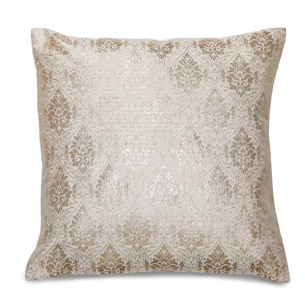 Vina Beige & Gold Cushion