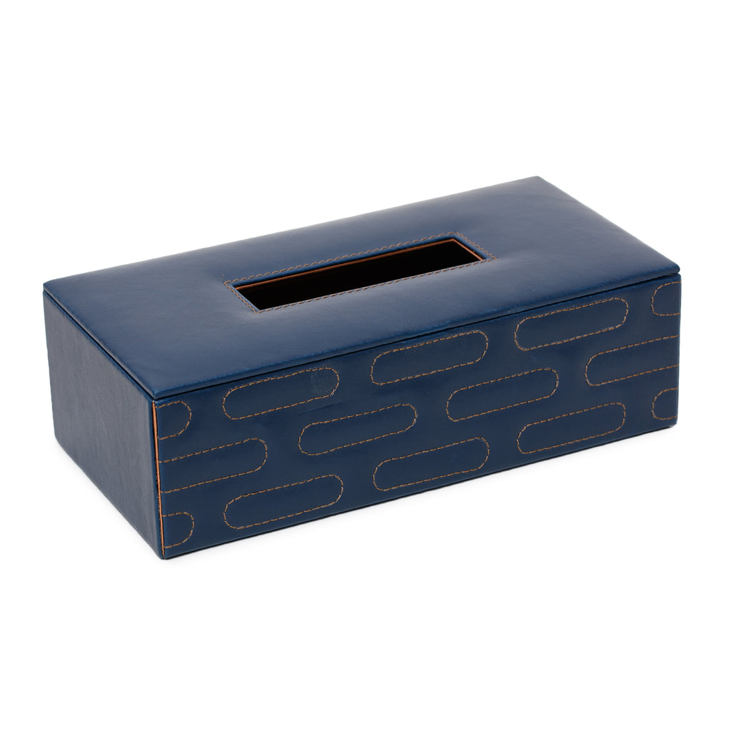 Jodhpur Blue Quilted Tissue Box