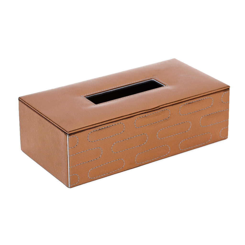Jupiter Copper Quilted Tissue Box
