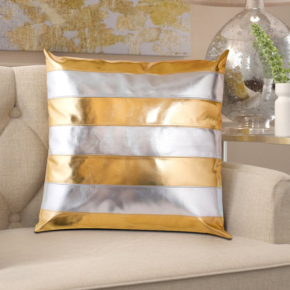 Gracia Gold & Silver Cushion