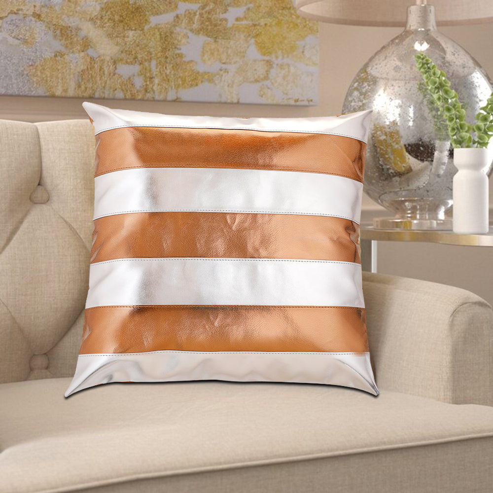 Amaira Copper & Silver Cushion
