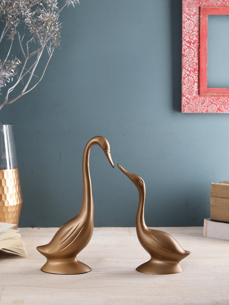 Daffy Mini Swan Gold set of 2
