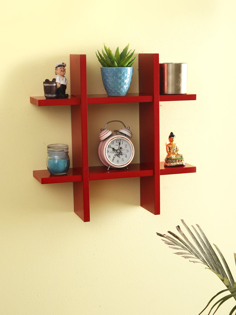 Crimson Wall Mounted Shelves