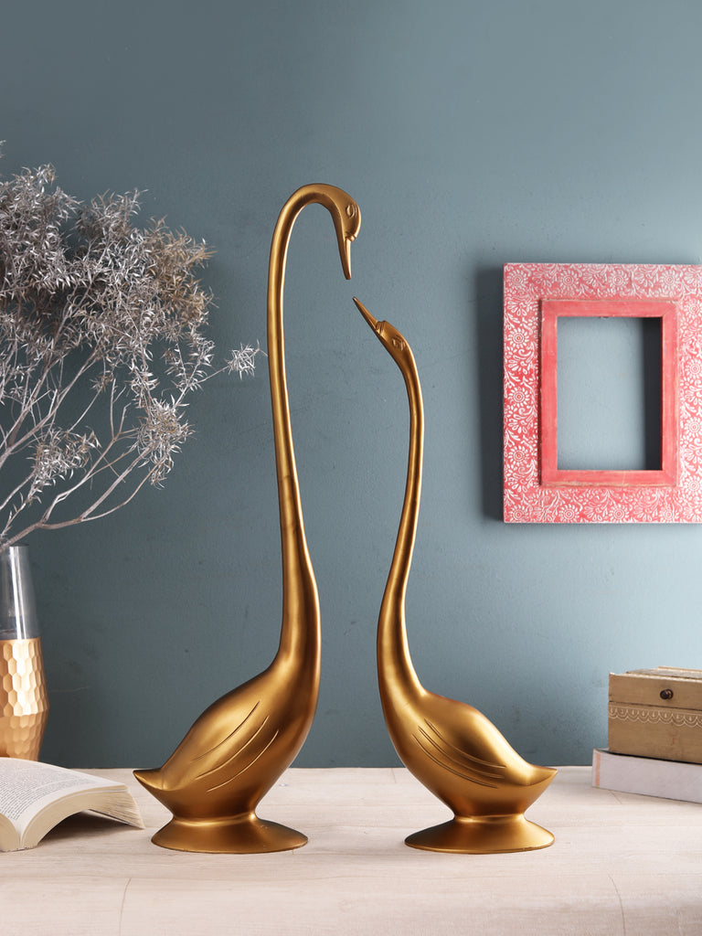 Gold Daffy Swan set of 2