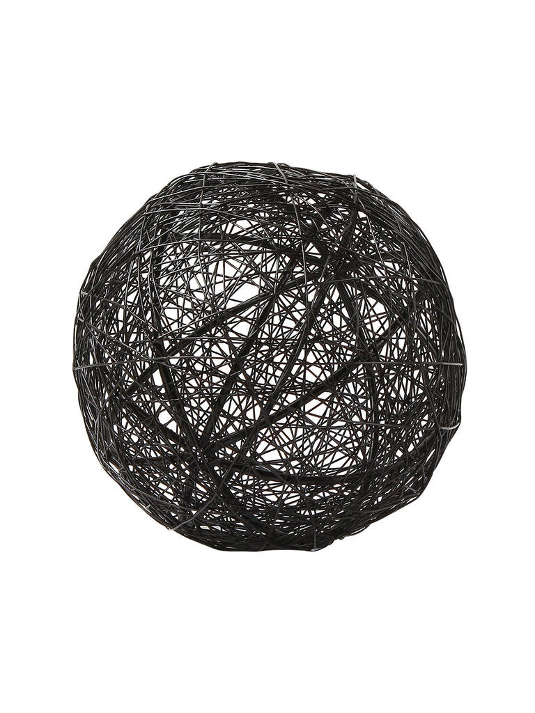 Noire Decorative Wire Orbs Set