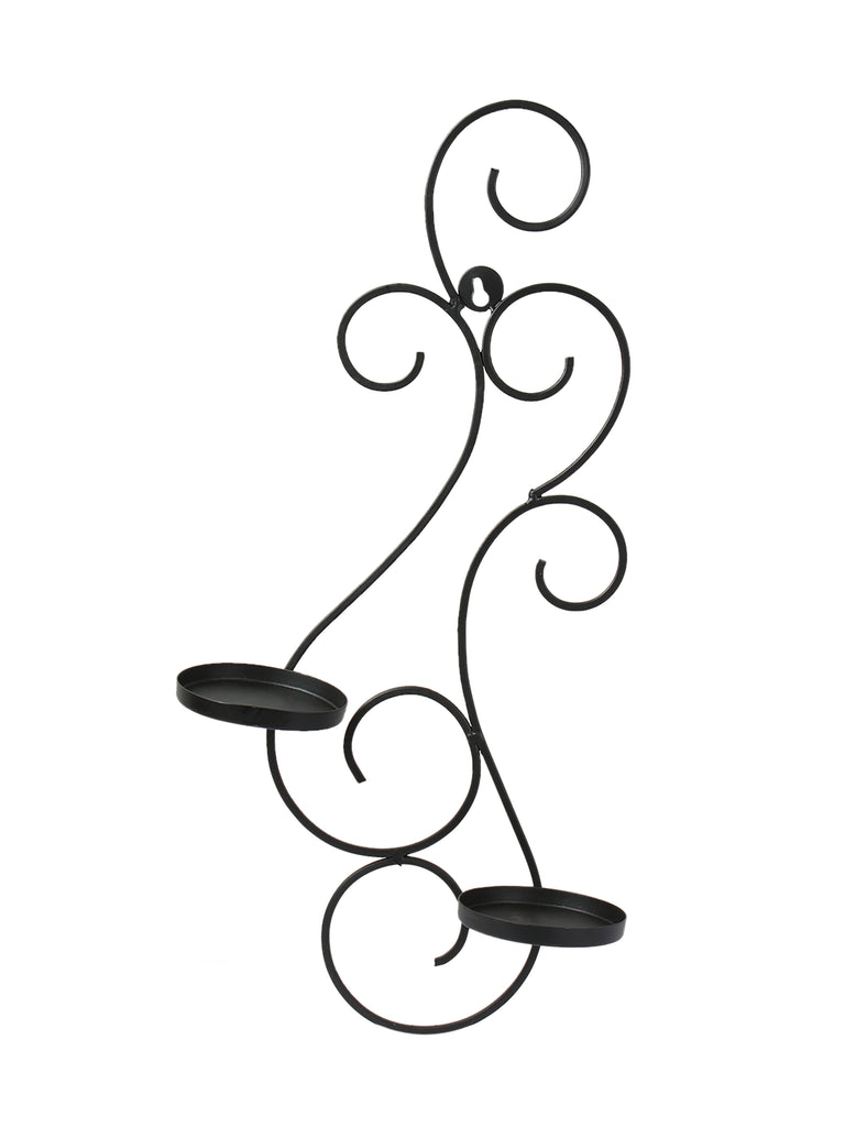 Tyler Black Iron 2 Pillar Candle holder