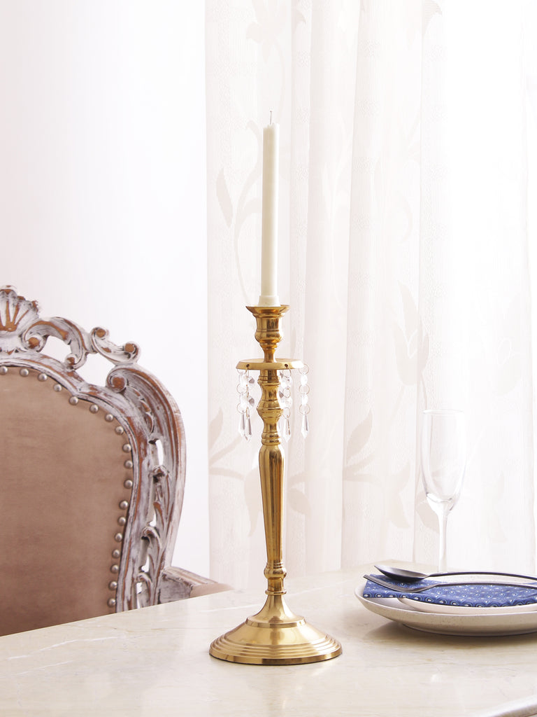 Roosevelt Jewelled Taper Candleholder