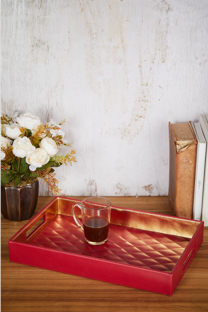 Ruby Diamond Pattern Tray