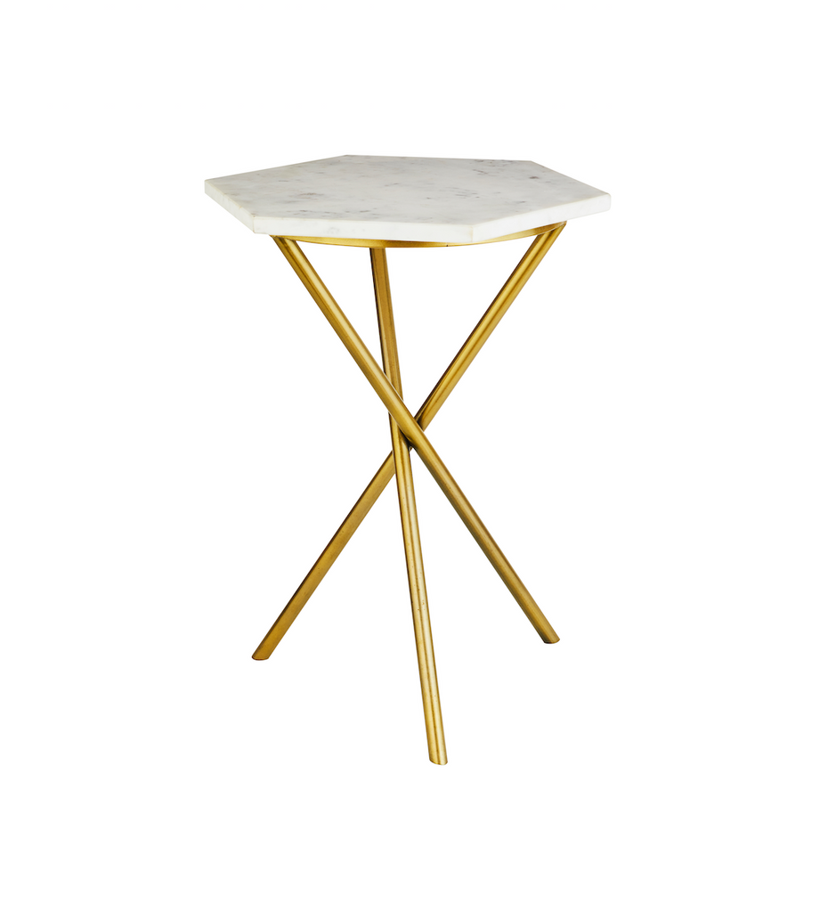 Chicago Gold Tripod Table