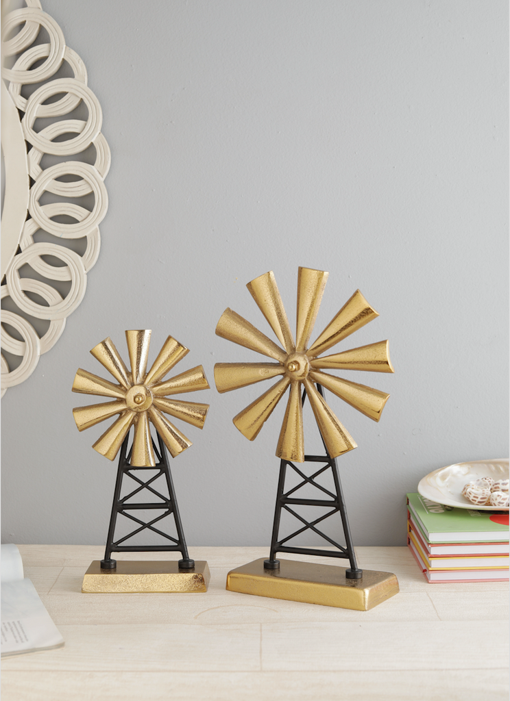 Windmill Decorative Accent Set of 2