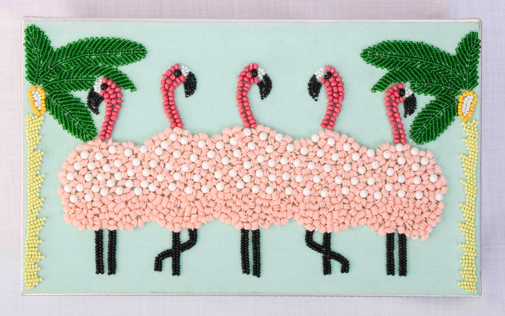 Flamingo Stationery Box Rectangle