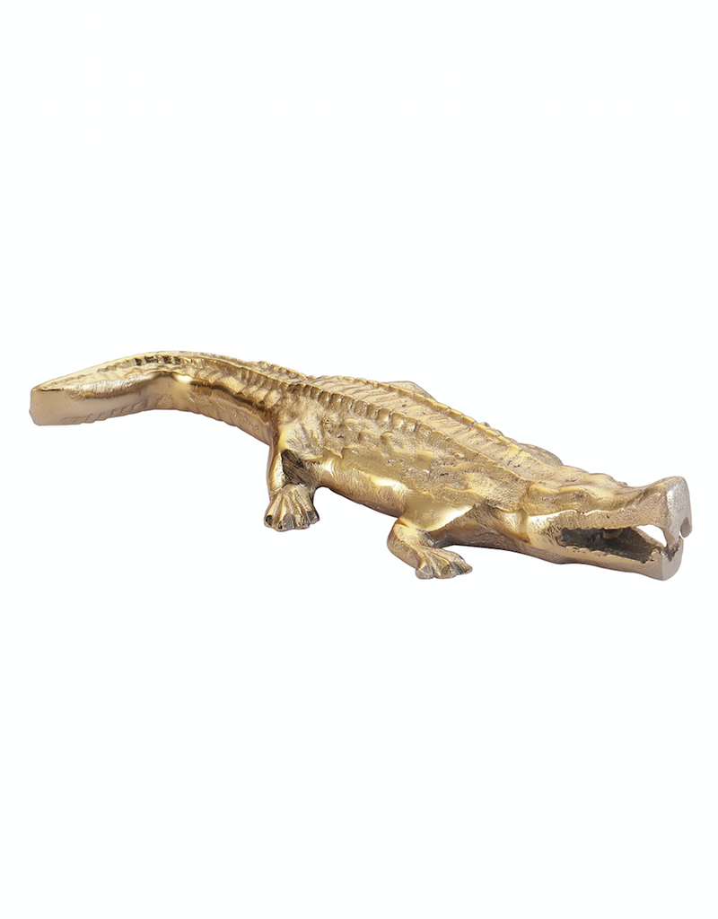 Alligator Decorative Gold Accent