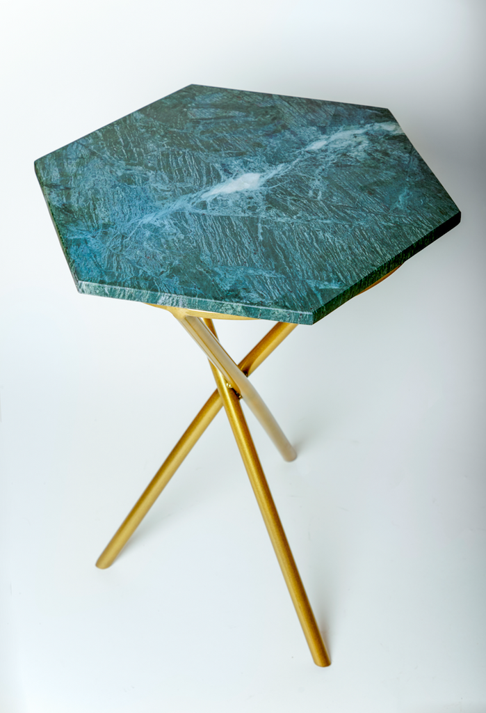 Verde Gold Tripod Table