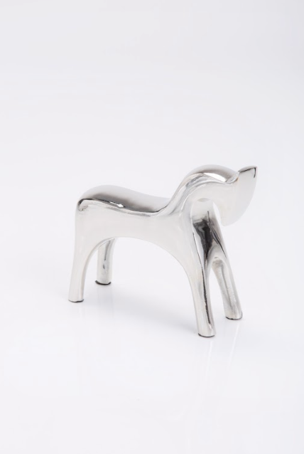 Geometric Horse Sculpture nickel