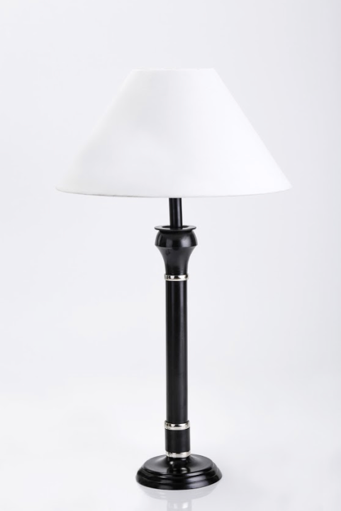 Amadeus Black & Silver column lamp