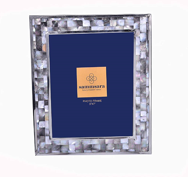 Iris Mother of pearl/Metal insert photo frame