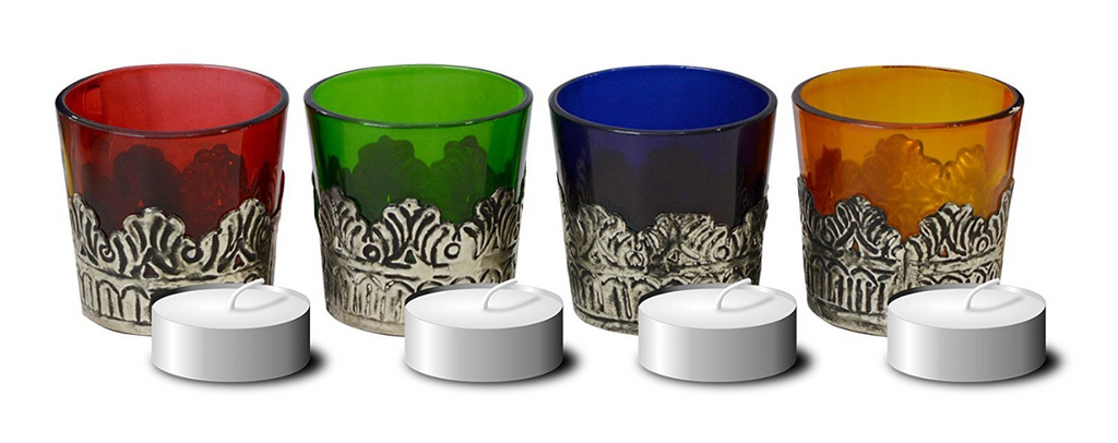 Araz Votives candle holder set of 4 for Home Decor with Gift Box